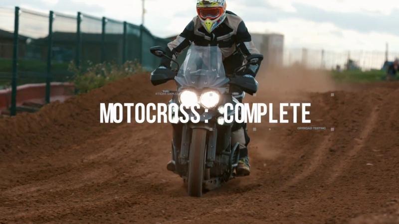Martin Craven rides Triumph Tiger Explorer XCa challenging motocross track