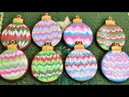 MARBLED CHRISTMAS ORNAMENT COOKIES by HANIELA'S
