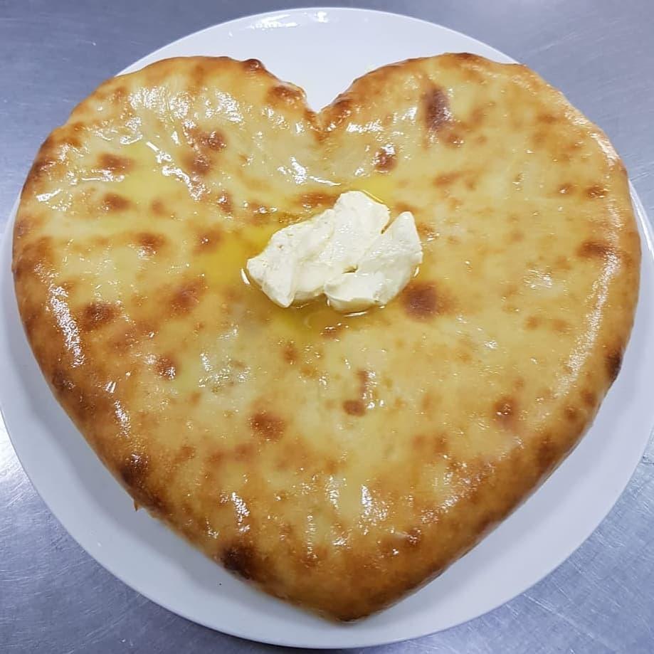 осетинский пирог в форме сердца