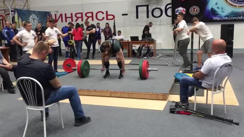 Мой воспитанник Иван Михейченко выполнил норматив мастера спорта постановой тяге на кубке мира в Бердске