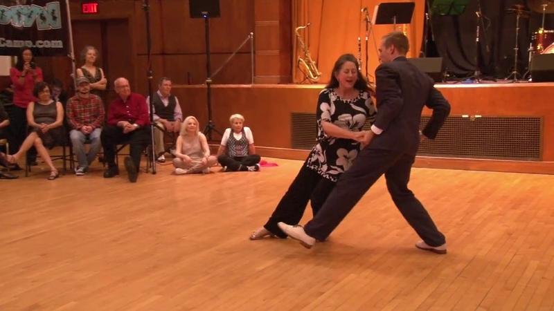 Skye Humphries Sylvia Sykes performing at Uptown Swing Dance (11/26/2016)