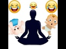 Йога с детьми Папа дает уроки йоги для детей Смешное видео