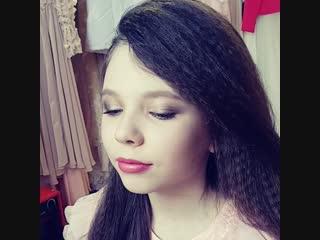 сатиновый макияжик для сьемок в модельном агенстве joy kids
