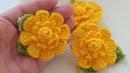 Flor enrolada em crochê