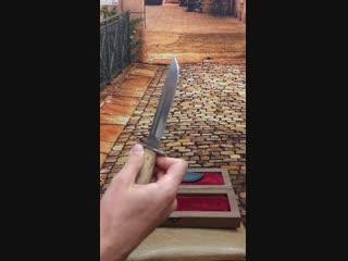 Нож «Финка-2», карельская берёза. Шкатулка
