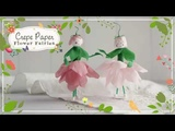 A Spun Cotton and Crepe Paper Flower Fairy - DIY Craft Tutorial