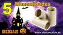 5 Manualidades para HALLOWEEN con tubos de cartón RECICLAJE