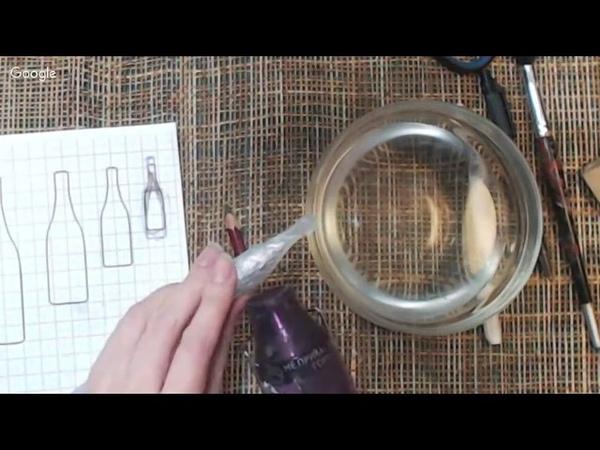 Открытый МК Шампанское и бокалы из клея