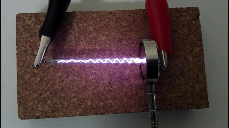 Helical Plasma Vortex High Voltage Neodymium Magnet Xenon Flash Tube