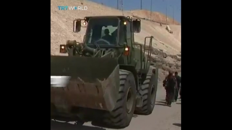 TRT World - Israelis have dumped rocks to cut off all roads leading to Khan al Ahmar, in West Bank, threatened with demolition.