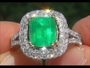 Certified Natural Colombian Emerald Diamond Solid 14k Gold Cocktail Estate Ring - C768