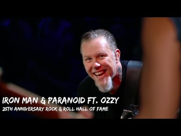 Metallica Ozzy Osbourne - Iron Man Paranoid (Rock and Hall of Fame - October 30, 2009)