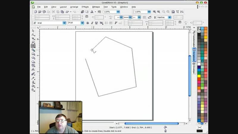 Corel Draw X3 Basics, Line Tools
