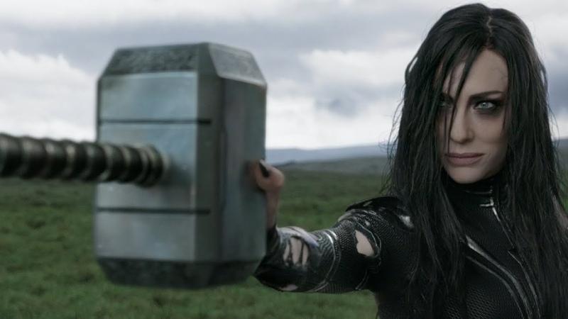 Появление Хеллы, уничтожение Мьёльнира, Тор, Локи, Тор: Рагнарёк(Thor: Ragnarök)