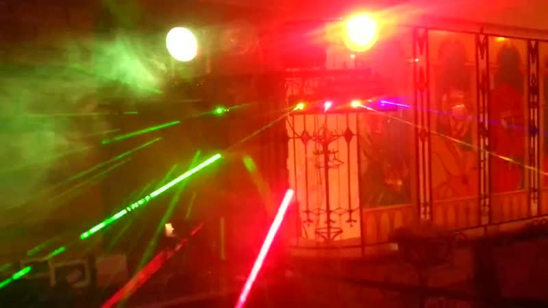Работа диско приборов на новогодней вечеринке ВасильевкаГуляет
