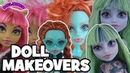 Monster High Doll Makeovers Twyla Lorna McNessie Howleen Wolf