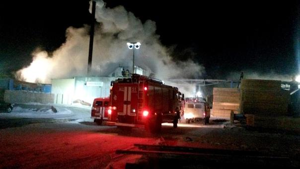 Пожар 13.11.2018 на промплощадке ЛПК