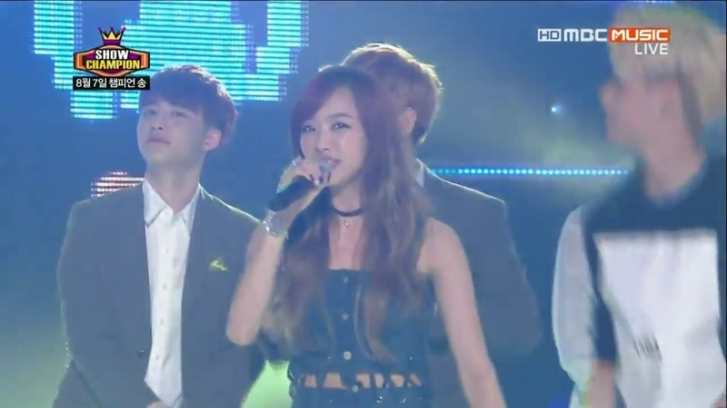 130807 fx NO 1 Encore with EXO@MBC Show Champion