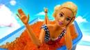 Барби в СПА салоне массаж камнями и солярий. Мультики для девочек. Играем в куклы