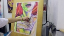 Erotic desires timelapse art drawing workshop oil pastels