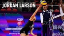 JORDAN LARSON - BEST Volleyball Actions - 3rd meter SPIKE on WCWC 2018