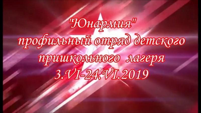 Профильная смена Юнармия детского пришкольного лагеря с.Киёва
