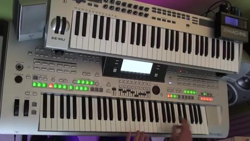 Исполнитель EVI Ionita песня Детцкии ремикс на синтезаторе