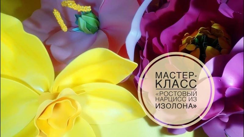 Ростовые цветы Цветок изолон Нарцис из изолона Цветок фоамиран Мастер класс фоамиран