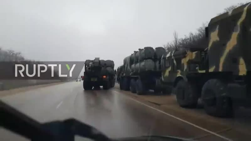 Russia_ Anti-ship BAL missile complex spotted on Crimean highway EXCLUSIVE