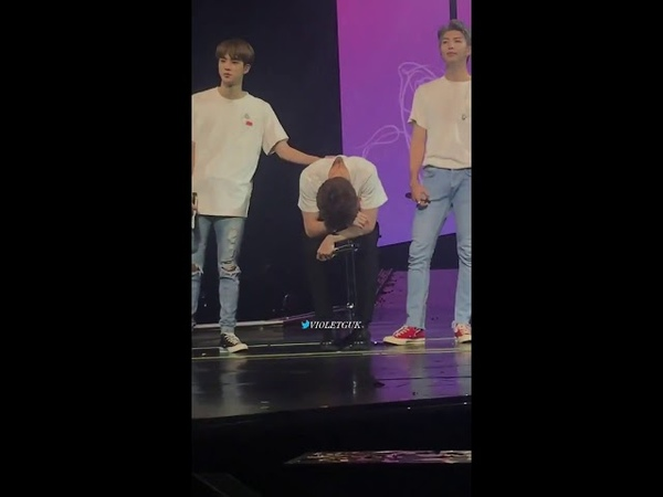 Jungkook broke down in tears during his speech when armys was chanting his name