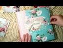 Альбом первого года жизни девочки из коллекции бумаги Little Bunny(тм Скрапмир).