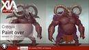 Creature design tutorial critique and paint over session 22