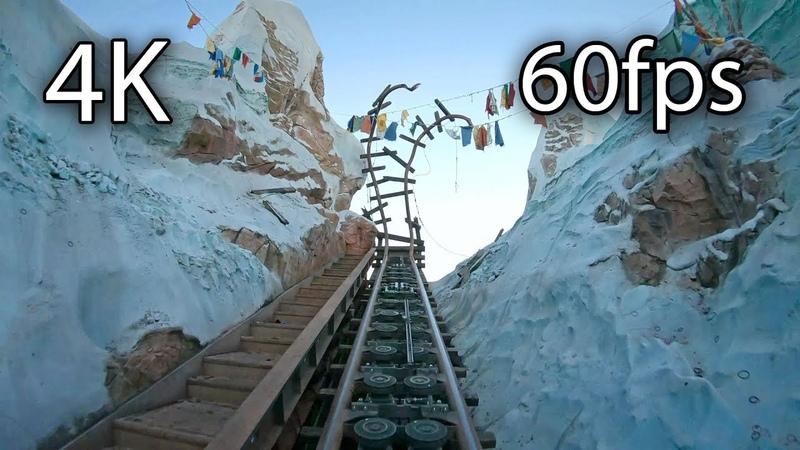 Expedition Everest front seat on-ride 4K POV @60fps Disney's Animal Kingdom