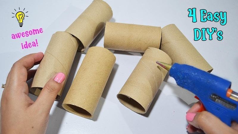 4 Ways To ReUseRecycle Empty Tissue Roll  Best Out of Waste