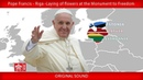 Pope Francis - Riga – Cerimony and laying of flowers at Monument to Freedom 24092018