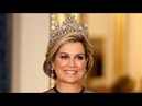 QUEEN MAXIMA looks STUNNING in the DIAMOND STUART TIARA at THE QUEEN'S State Banquet