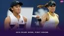 Wang Xiyu vs. Monica Puig 2019 Miami Open First Round WTA Highlights