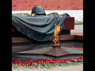 Минута молчания на Параде Победы