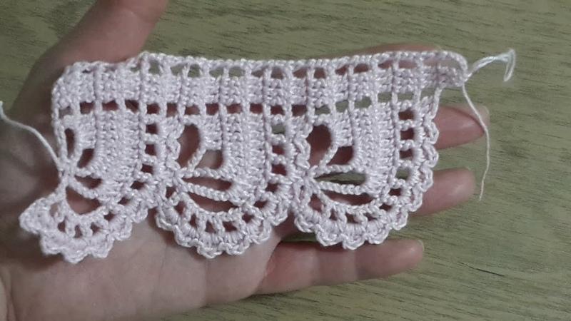 Havlu kenarı yapımı, Tığişi Örgü Havlu Kenarı , Crochet