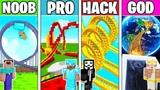 Minecraft NOOB vs PRO vs HACKER vs GOD ROLLER COASTER CHALLENGE in Minecraft! Animation