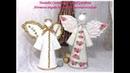 Angelitos navideños fáciles con cartón y papel. How to make Christmas angels