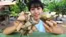 Primitive Technology: ASMR eating cake khmer | ASMR eating cake khmer.
