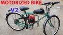 Build a Motorized Bike at home - v2 - Using 4-Stroke 49cc Engine - Tutorial