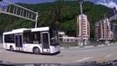 Дорога от Горной Олимпийской деревни до курорта Горки Город на высоте 960 метров над уровнем моря