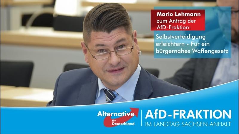 Mario Lehmann: Wir wollen keine wehrlosen Bürger, wenn der Staat bei der Sicherheit versagt.