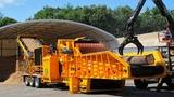 Amazing Fastest Firewood Chipper Machines Modern Technology, Dangerous Wood Processing Machinery