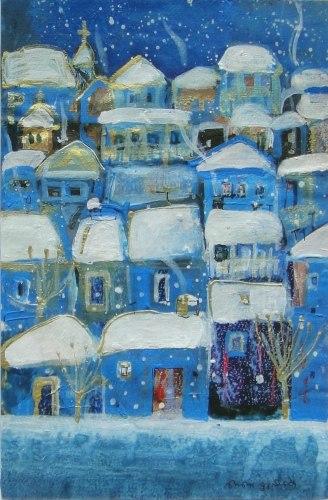 Нино Перадзе - современная грузинская художница и не только художница. Нино умеет всё. Это подкупает. Она владеет различными графическими техниками. Она занимается живописью. Её работы в