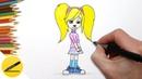 Как Нарисовать Розу Барбоскину поэтапно - Учимся рисовать Барбоскиных