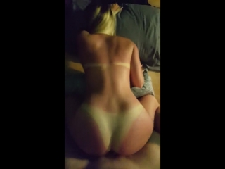 pov doggy on tan lined pawg