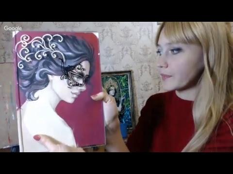 МК Екатерины Захваткиной Маска я тебя знаю Смешанная техника витражной росписи и живописи гуашью